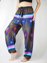 Load image into Gallery viewer, Big eye Unisex Drawstring Genie Pants in Navy PP0110 020050 03