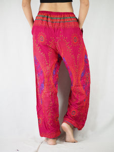 Big eye Unisex Drawstring Genie Pants in Pink PP0110 020065 01
