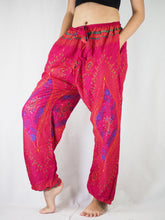 Load image into Gallery viewer, Big eye Unisex Drawstring Genie Pants in Pink PP0110 020065 01