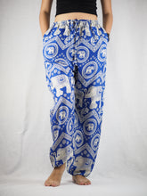 Load image into Gallery viewer, Buddha Elephant Unisex Drawstring Genie Pants in Bright Navy PP0110 020009 07