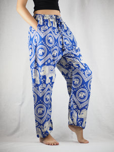Buddha Elephant Unisex Drawstring Genie Pants in Bright Navy PP0110 020009 07