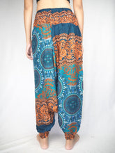 Load image into Gallery viewer, Clock nut  Unisex Aladdin drop crotch pants in Ocean Blue PP0056 020067 05
