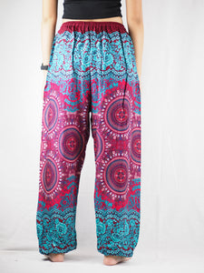 Clock nut Unisex Drawstring Genie Pants in Red PP0110 020067 06