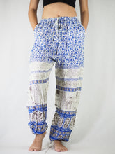 Load image into Gallery viewer, Cute elephant Unisex Drawstring Genie Pants in Bright Navy PP0110 020011 01