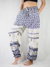 Load image into Gallery viewer, Cute elephant Unisex Drawstring Genie Pants in Navy PP0110 020011 04