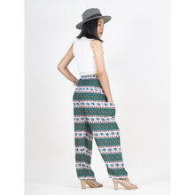Load image into Gallery viewer, Cute elephant stripes 142 women harem pants in Green PP0004 020142 03