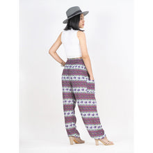 Load image into Gallery viewer, Cute elephant stripes 142 women harem pants in brown PP0004 020142 05