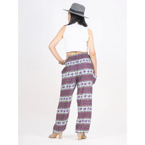 Cute elephant stripes 142 women harem pants in brown PP0004 020142 05