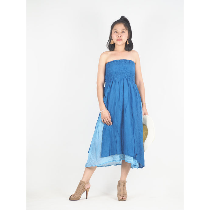 Solid Color Women's Dresses in Blue DR0439 060000 06