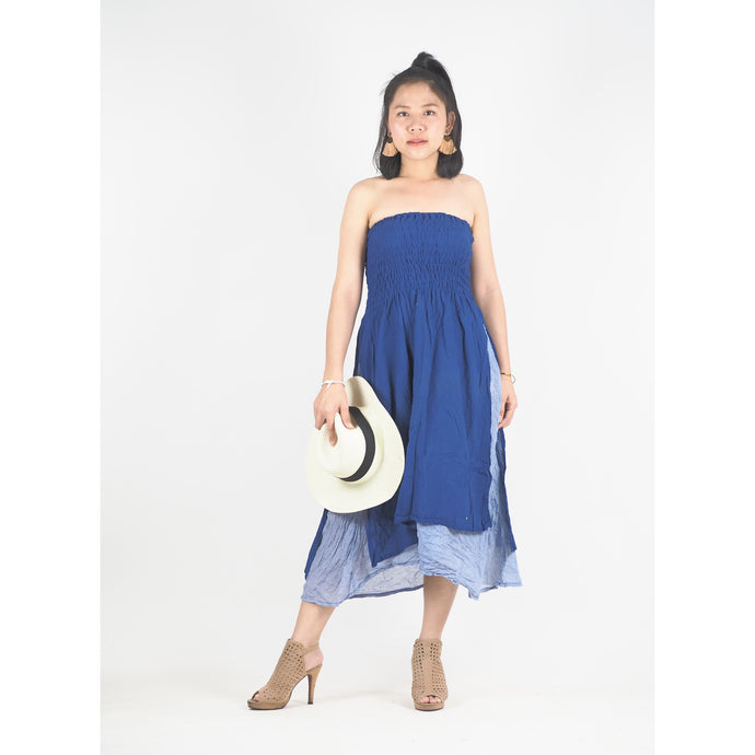 Solid Color Women's Dresses in Bright Navy DR0439 060000 07