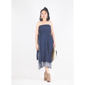 Solid Color Women's Dresses in Navy Blue DR0439 060000 08