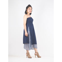 Load image into Gallery viewer, Solid Color Women's Dresses in Navy Blue DR0439 060000 08