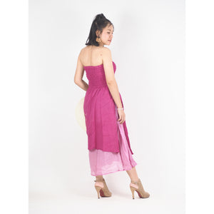 Solid Color Women's Dresses in Pink DR0439 060000 15