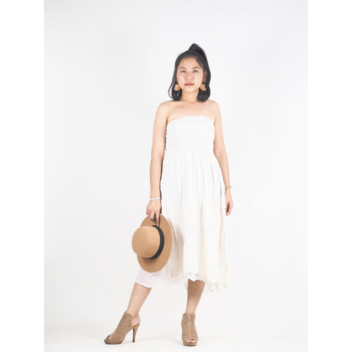 Solid Color Women's Dresses in White DR0439 060000 20