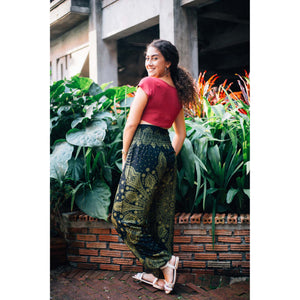 Dark dream catcher 83 women harem pants in Green PP0004 020083 02