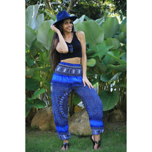 Load image into Gallery viewer, Tribal Dashiki Women's Harem Pants in Blue PP0004 020060 04