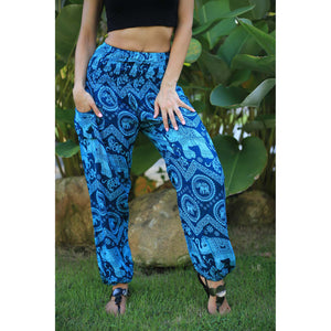 Elephant Circles 51 women harem pants in Ocean Blue PP0004 020051 02