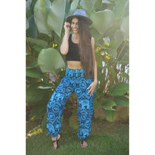 Load image into Gallery viewer, Elephant Circles 51 women harem pants in Ocean Blue PP0004 020051 02