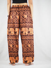 Load image into Gallery viewer, Elephant classic Unisex Drawstring Genie Pants in Orange PP0110 020029 05