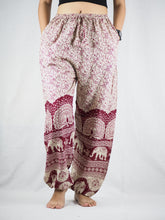 Load image into Gallery viewer, Elephant parade Unisex Drawstring Genie Pants in Red PP0110 020080 03