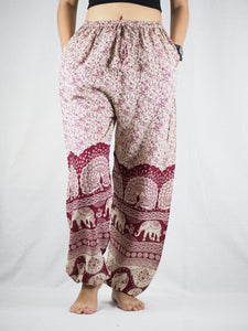 Elephant parade Unisex Drawstring Genie Pants in Red PP0110 020080 03