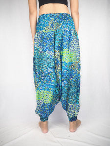 feather bed  Unisex Aladdin drop crotch pants in Navy PP0056 020076 02