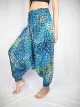 Load image into Gallery viewer, feather bed  Unisex Aladdin drop crotch pants in Navy PP0056 020076 02
