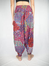 Load image into Gallery viewer, feather bed  Unisex Aladdin drop crotch pants in Red PP0056 020076 03