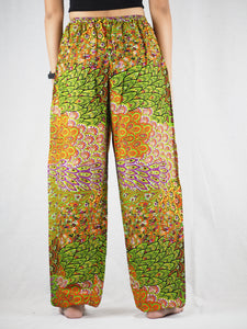 Feather bed Unisex Drawstring Genie Pants in Green PP0110 020076 06