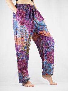 Feather bed Unisex Drawstring Genie Pants in Pink PP0110 020076 01