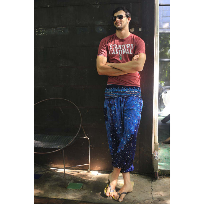 Peacock Heaven 58 men/women harem pants in Navy PP0004 020058 03