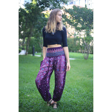 Load image into Gallery viewer, Peacock Heaven 58 women harem pants in Purple PP0004 020058 04