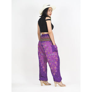 Feathered 93 women harem pants in Purple PP0004 020093 03