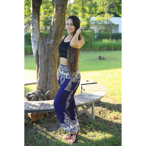 Flower chain 64 women harem pants in Navy PP0004 020064 02
