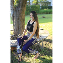 Load image into Gallery viewer, Flower chain 64 women harem pants in Navy PP0004 020064 02