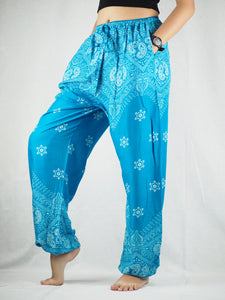 Flower drops Unisex Drawstring Genie Pants in Blue PP0110 020070 03