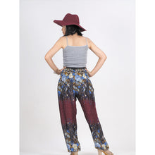 Load image into Gallery viewer, Flowers 100 women harem pants in Drak red PP0004 020100 03