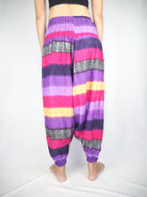 Load image into Gallery viewer, Funny Stripes Unisex Aladdin drop crotch pants in Purple PP0056 020063 06