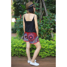 Load image into Gallery viewer, Mandala Women's Mini Pompom Shorts Pants in Red PP0228 020132 06