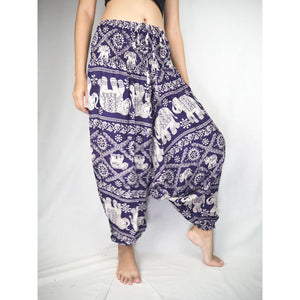 Imperial Elephant Unisex Aladdin drop crotch pants in Purple PP0056 020005 03