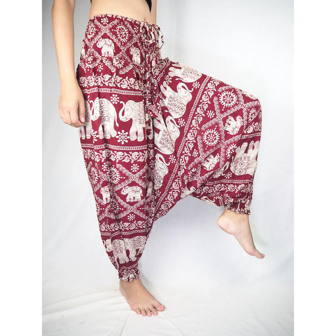 Imperial Elephant Unisex Aladdin drop crotch pants in Red PP0056 020005 04
