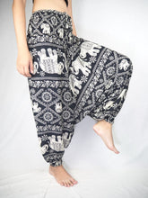 Load image into Gallery viewer, Imperial Elephant Unisex Aladdin drop crotch pants in Black PP0056 020005 05