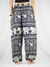 Load image into Gallery viewer, Imperial Elephant Unisex Drawstring Genie Pants in Black PP0110 020005 05