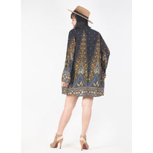 Load image into Gallery viewer, Peacock Women Kimono in Black Gold JK0020 020007 04