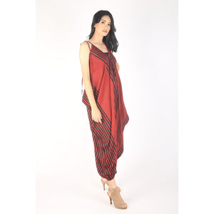 Zebra Women's Jumpsuit in Red JP0008 020077 06