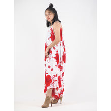 Load image into Gallery viewer, Flower Women's Jumpsuit in Red JP0069 020105 03