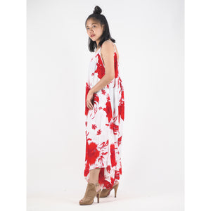 Flower Women's Jumpsuit in Red JP0069 020105 03