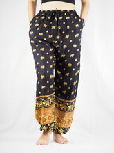 Load image into Gallery viewer, King elephant Unisex Drawstring Genie Pants in Black PP0110 020059 05