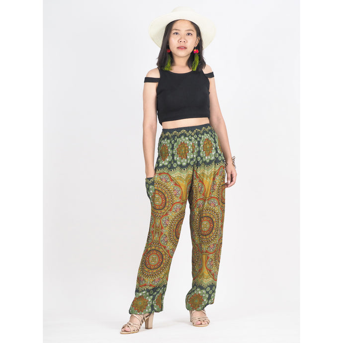 Mandala 114 women harem pants in Green PP0004 020114 03