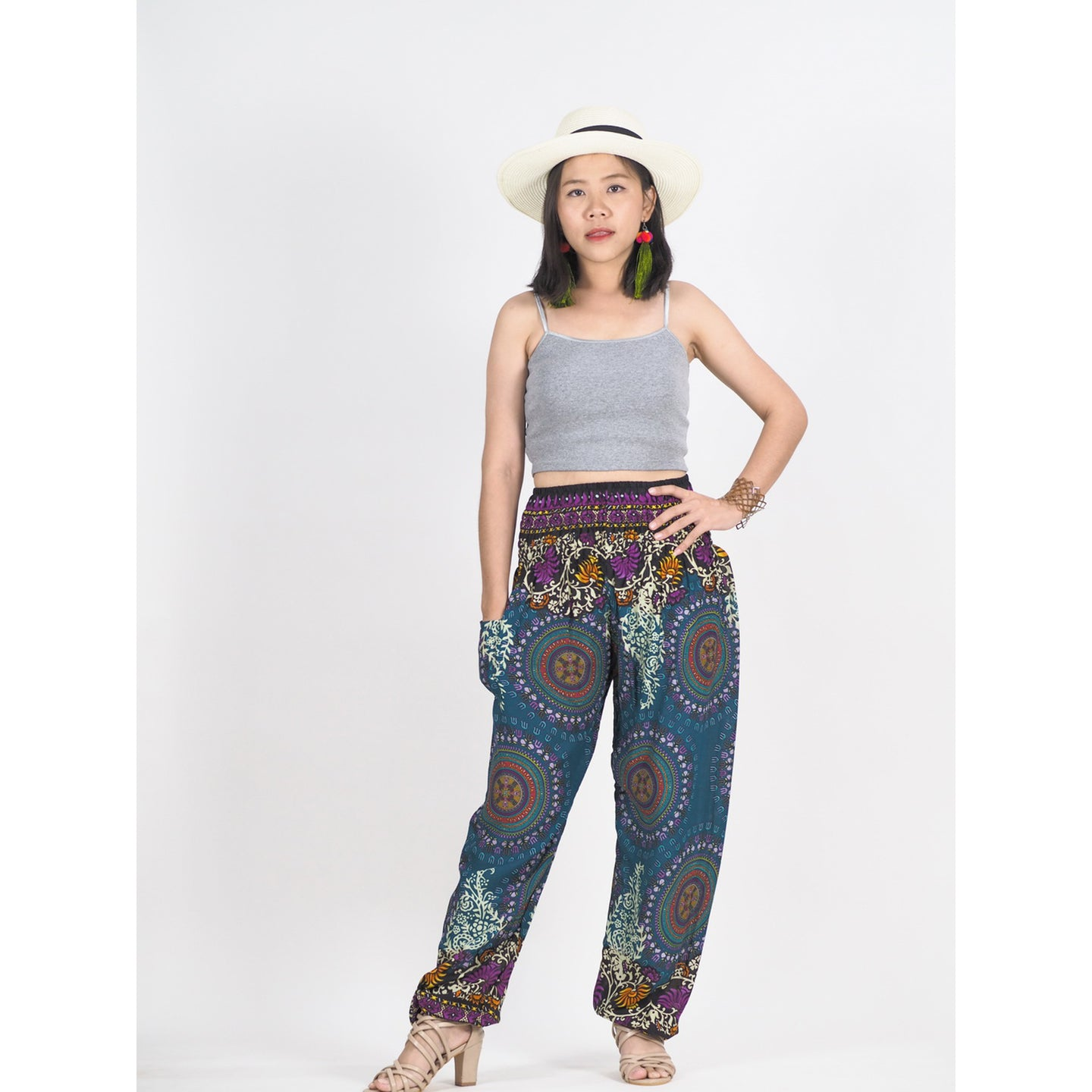 Mandala 151 women harem pants in Green PP0004 020151 02